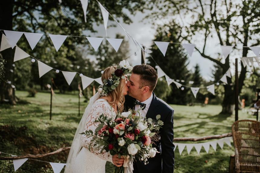 Ślub Boho w Chatce Pustelnika
